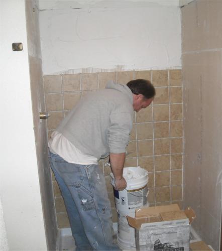 remodeled tile bathroom shower