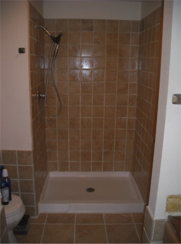 Handyman mike of gig harbor home remodeling photo gallery for Bathroom shower stall replacement